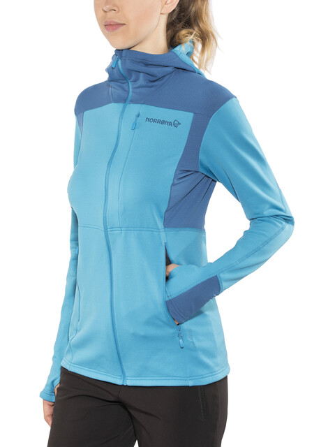 Norrøna Falketind Warm1 Stretch Zip Hoodie Women Blue Moon